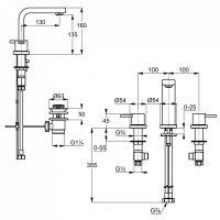 Kludi Zenta смеситель для раковины 383930575 схема 2