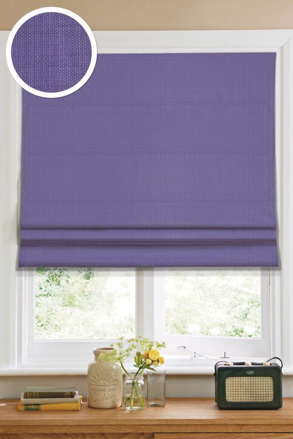 Римская штора Эскар однотонная 60*160, фиолетовый