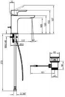 Смеситель Villeroy&Boch O.Novo для раковины TVW10410111061 схема 3