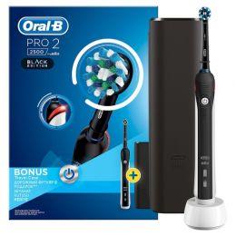 Электрическая зубная щетка Oral-B PRO 2 2500 Black Edition, черный