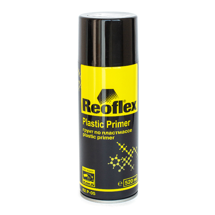 REOFLEX Грунт 1K по пластмассе, серый, аэрозоль, 520мл.