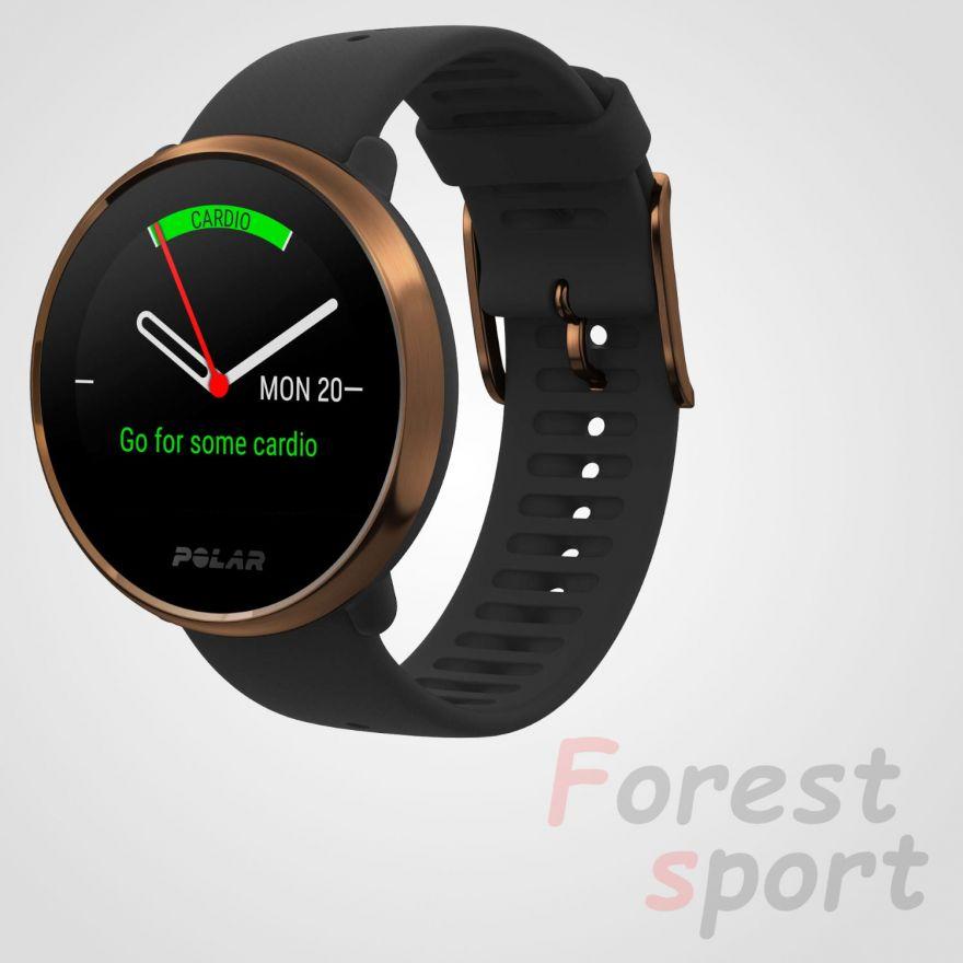 Мультиспортивные часы пульсометр Polar Ignite Black Cooper M-L