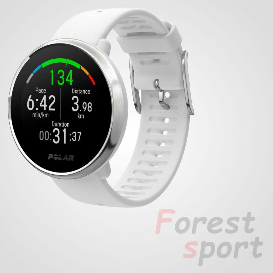 Мультиспортивные часы пульсометры Polar Ignite White-Silver S