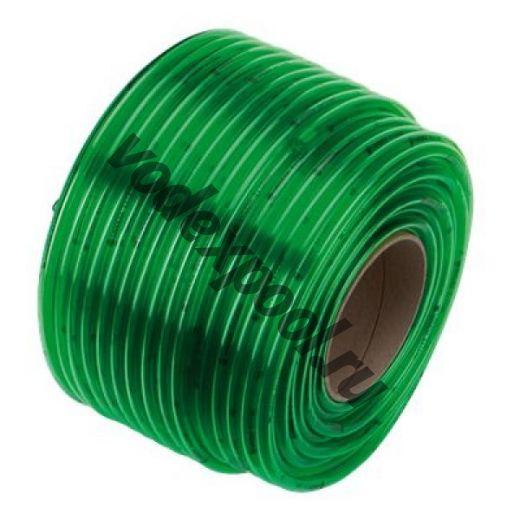 Шланг прозрачный зеленый 10х2 мм x 1 м (в бухте 50 м)