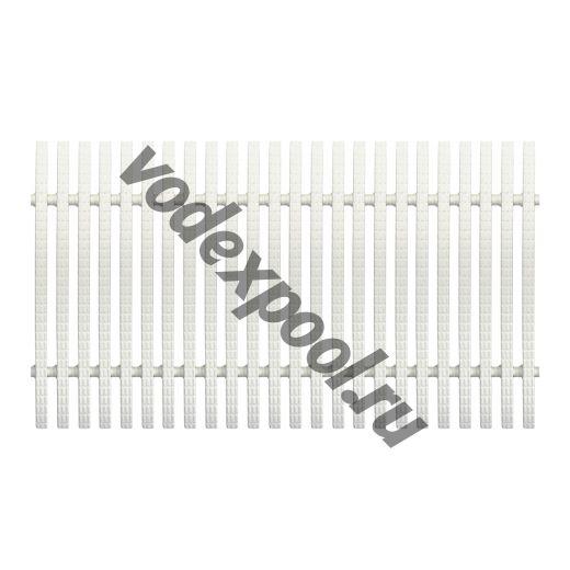 Переливная решетка Aquaviva Classic с двойным соединением 195x25 мм (белая)