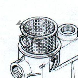 Фильтр грубой очистки насоса KS Kripsol RKS 190.A/5/RBH0003.03R