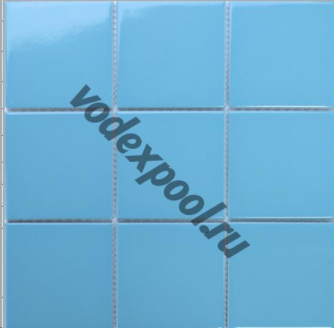 Керамическая мозаика AquaViva C3477 глянцевая голубая