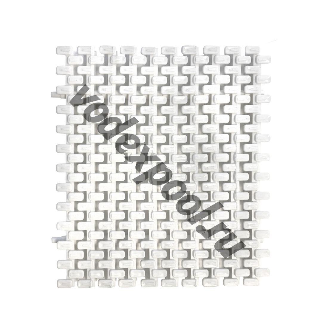 Переливная решетка Aquaviva Grift с двойным соединением 295x25 мм (белая)