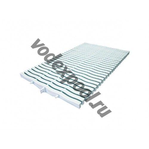 Решетка переливная для прямоугольного бассейна Kripsol NМR 2034.С (белая с легким голубым оттенком, 34х195 мм)