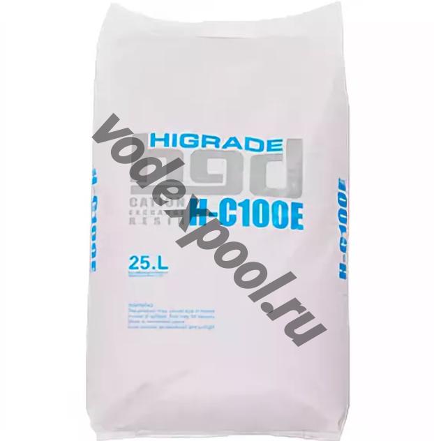 Ионообменная смола HIGRADE RESIN H-C100E (25л 19 кг)