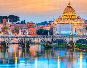 Алмазная мозаика «Мост Ангелов Рим» 40x50 см