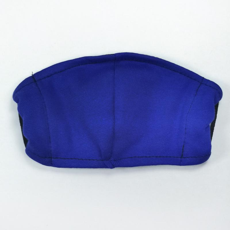 мас1003-53 Маска защитная трикотажная двойная синяя