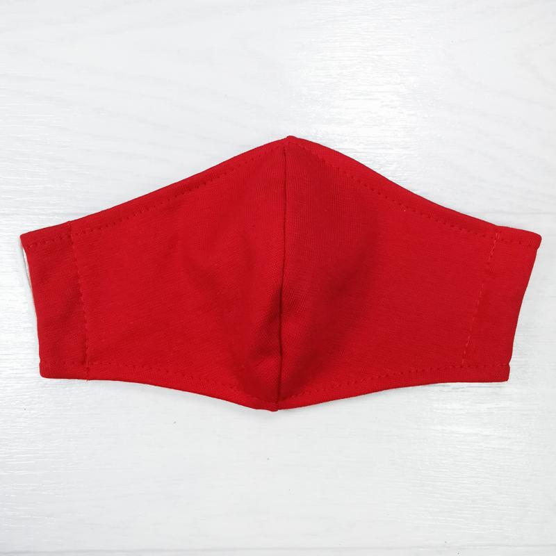 мас1004-23 Маска защитная трикотажная двойная Uni красная