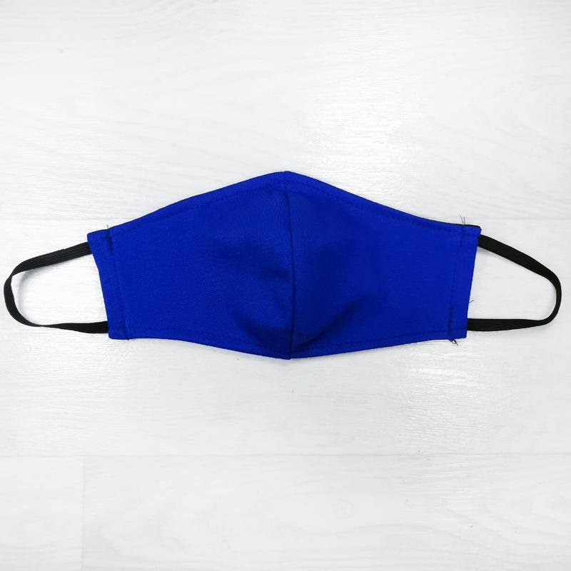 мас1004-53 Маска защитная трикотажная двойная Uni синяя