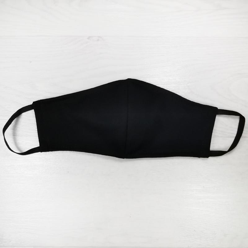 мас1004-65 Маска защитная трикотажная двойная Uni черная