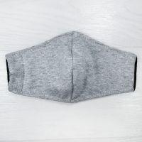 мас1004-80 Маска защитная трикотажная двойная Uni серый меланж