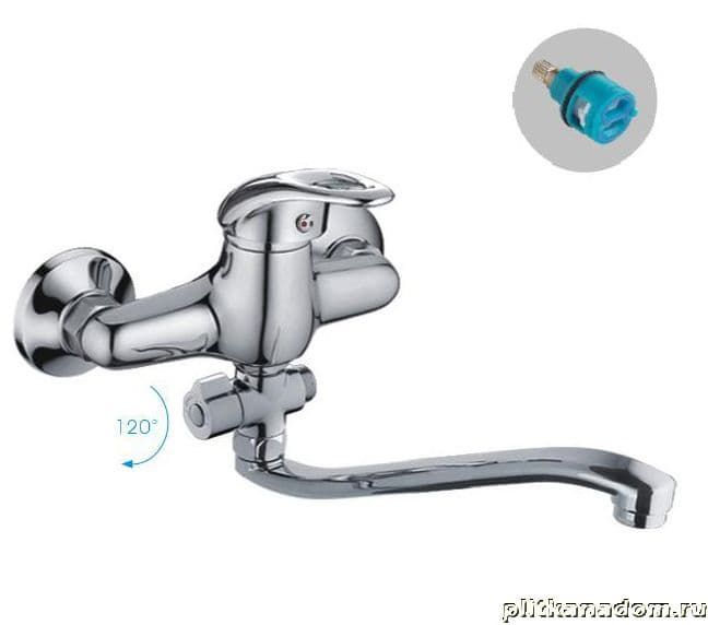 Смес ванна 40мм FRAP 2103 дивер S40