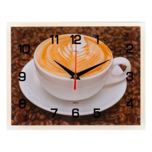 """Часы настенные, серия: Кухня, """"Чашка кофе"""", 20х26  см, микс 1103770"""