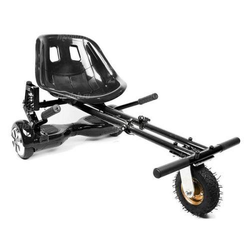Ховеркарт для гироскутера с амортизаторами и надувным колесом (Черный)