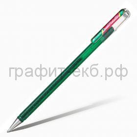 Ручка гелевая Pentel Hybrid Dual Metallic зеленый + красный металлик К110-DBDX