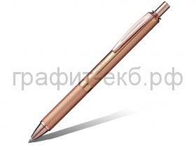 Ручка гелевая Pentel BL407PG ENERGEL розово-золотой корпус