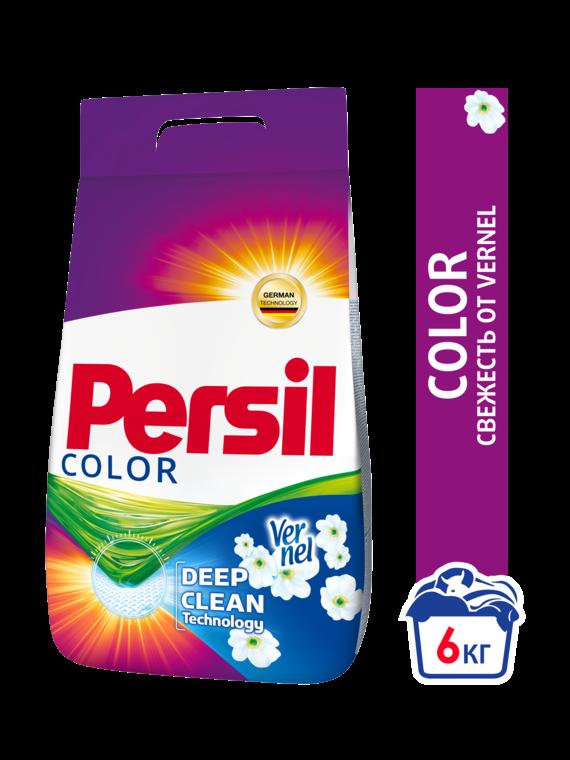 Стиральный порошок Persil Color Свежесть от Vernel автомат для цветного белья 6 кг