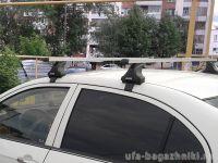 Багажник на крышу Ford Focus 3, sedan/hatchback, Атлант, прямоугольные дуги