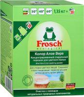 Стиральный порошок Frosch Color Алоэ Вера для всех типов стирки для цветного белья 1,35 кг