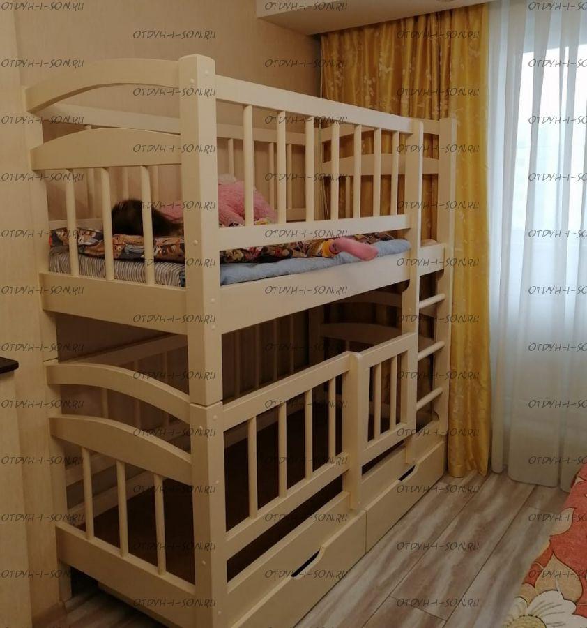 Кровать двухъярусная Малинка №17