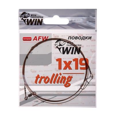 Поводок для троллинга Win 1х19 (AFW) Trolling 16 кг 80 см