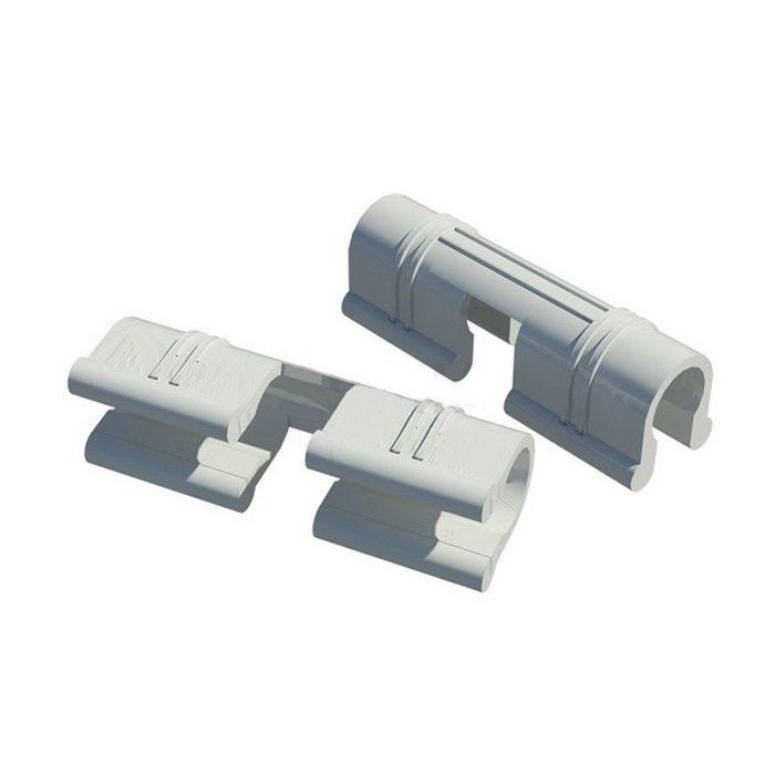 Зажим для крепления плёнки к каркасу парника 12 мм, 20 шт
