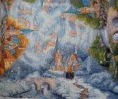 "Cross stitch pattern ""Chapel in the mountains""."