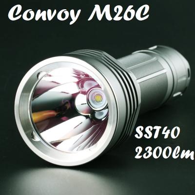 Convoy M26C, Luminius SST40, 2300 Лм, 6A, 600м, серый (2 оттенка света)