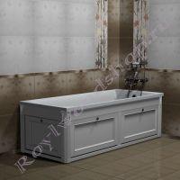 """Экран для ванны """"Руссильон PROVENCE откидной, белый""""  в закрытом виде"""