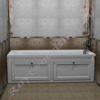 """Экран для ванны """"Руссильон PROVENCE откидной, белый"""" прямой"""