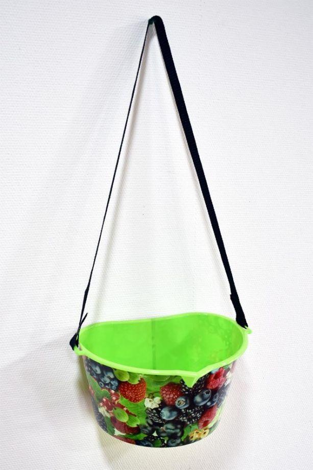 Лукошко для сбора ягод, 3 л, цвет Зеленый