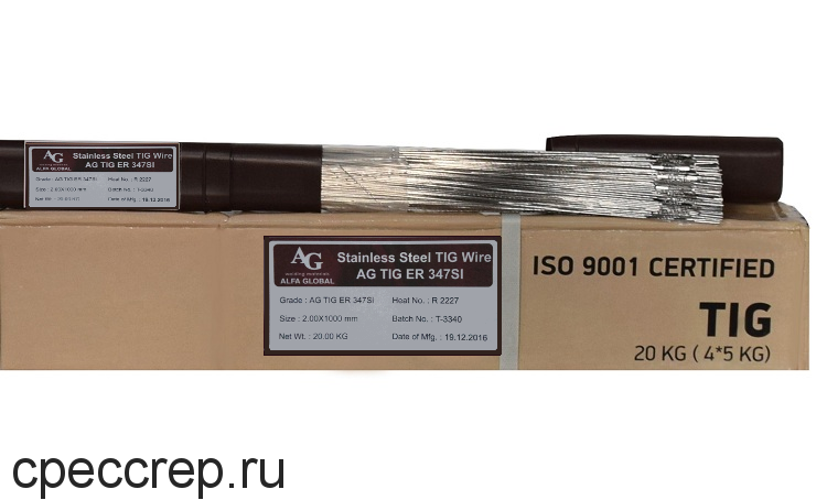 Присадочный пруток AG TIG ER 347Si d=2,4*1000 туба-5кг (НАКС)