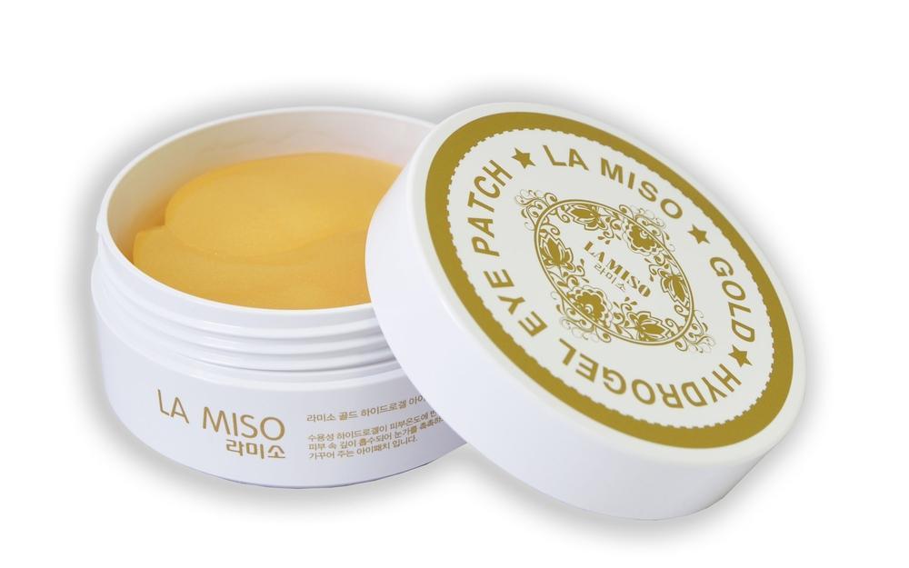 Маска гидрогелевая La miso с чистицами золота для кожи вокруг глаз 60шт