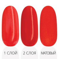 Лак'ю гель-лак R 01 - три слоя красная палитра
