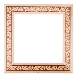 Рама для зеркал и картин дерево 25 х 25 х 5.0 см, липа, «Лепесток»