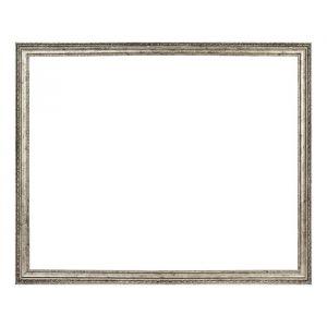 Рама для зеркал и картин, пластиковая, 40 х 50, ширина 1,9 см, Adele, серебро