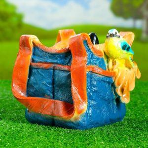 """Фигурное кашпо """"Синичка на сумке""""   3889473"""