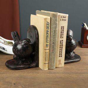 """Держатели для книг """"Пузатый воробышек"""" набор 2 штуки 16,5х11,5х12,5 см   4641674"""