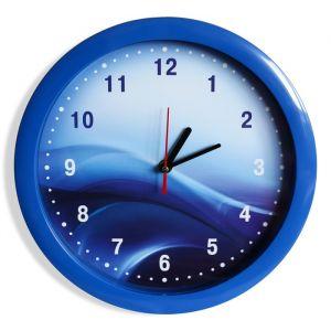 """Часы настенные """"Волны"""", синий обод, 28х28 см микс"""