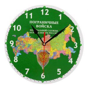 """Часы настенные, серия: Символика, """"Пограничные войска"""", 24 см 3571402"""