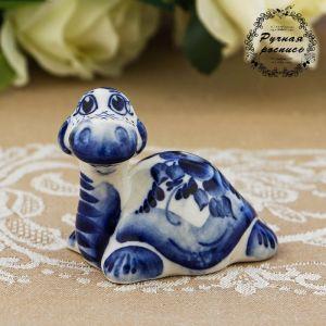 Сувенир «Черепаха с длинной шеей», 6 см, гжель 677243