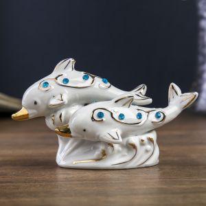 """Сувенир """"Два дельфина со стразами"""""""