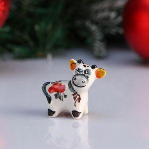 "Сувенир корова ""Дарла"", 5 см, цветная гжель 4950586"