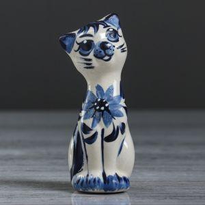 """Статуэтка """"Котик"""" роспись, керамика, 11 см, микс"""