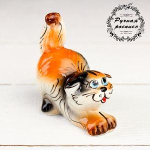 Сувенир  «Котик» , трехцветный, гжель 1318186